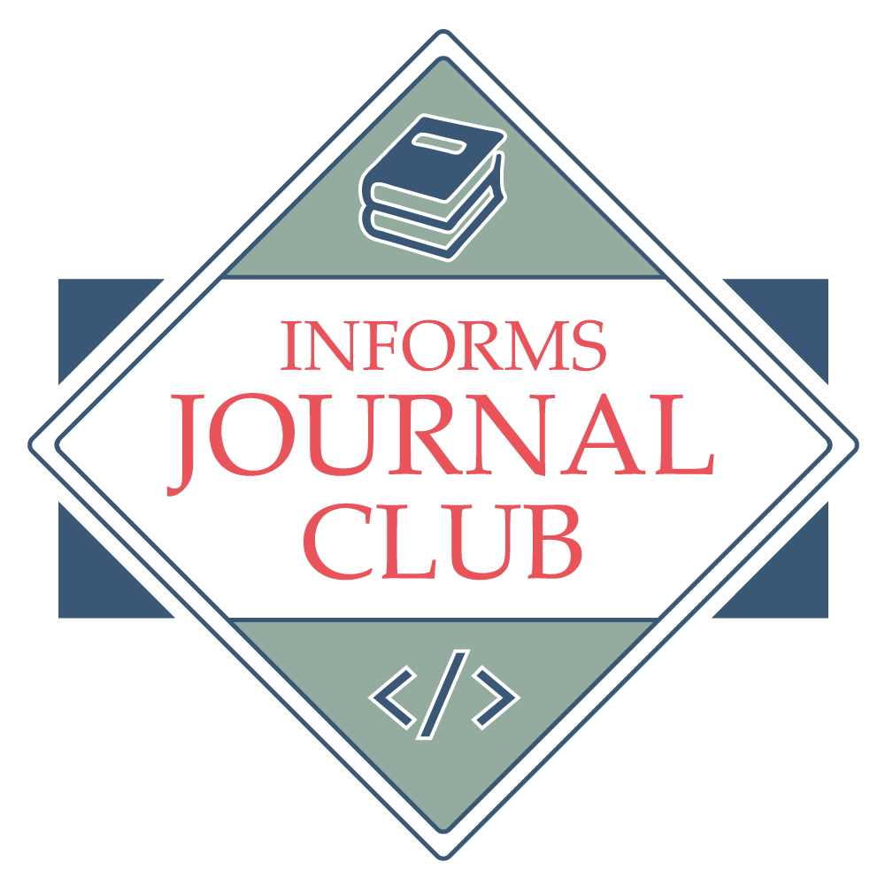 INFORMS Journal Club Logo